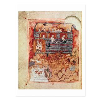 N A L 2334 fol 10v Noah s Ark from De Tours Pent Postcards