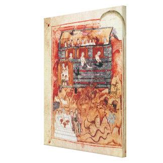 N.A.L 2334 fol.10v Noah's Ark, from 'De Tours Pent Canvas Print