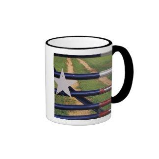 N.A., los E.E.U.U., Tejas, lago Buchanan, bandera  Tazas De Café
