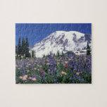N.A., los E.E.U.U., Washington el Monte Rainier y Rompecabezas Con Fotos