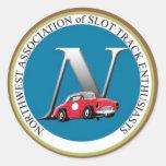 N.A.S.T.E. Pegatinas del logotipo Pegatinas Redondas