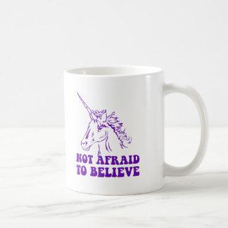 N.A.U.B no asustado creer unicornio Taza