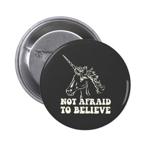 N.A.U.B Not Afraid To Believe Unicorn 2 Inch Round Button