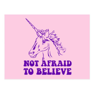 N.A.U.B Not Afraid To Believe Unicorn Postcard