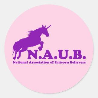 N.A.U.B Unicorn Believers Classic Round Sticker