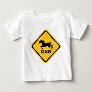 N.A.U.B Unicorn Crossing Sign Baby T-Shirt