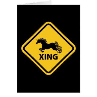N.A.U.B Unicorn Crossing Sign Card