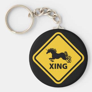 N.A.U.B Unicorn Crossing Sign Keychain