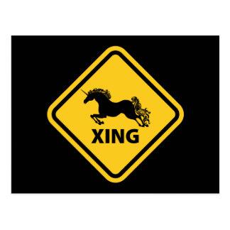 N.A.U.B Unicorn Crossing Sign Postcard