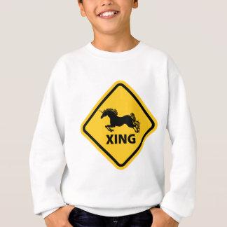 N.A.U.B Unicorn Crossing Sign Sweatshirt