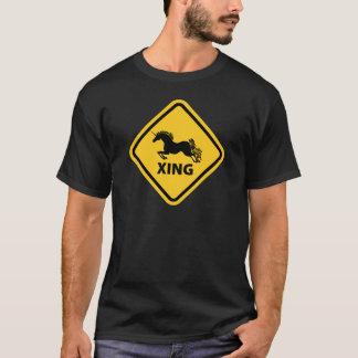 N.A.U.B Unicorn Crossing Sign T-Shirt
