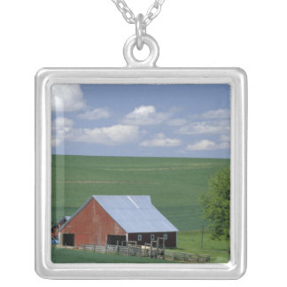 N.A., USA, Idaho, Latah county near Genesee. Square Pendant Necklace