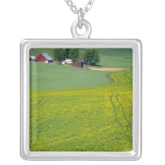 N.A., USA, Idaho, Latah County, near Genesee. Square Pendant Necklace