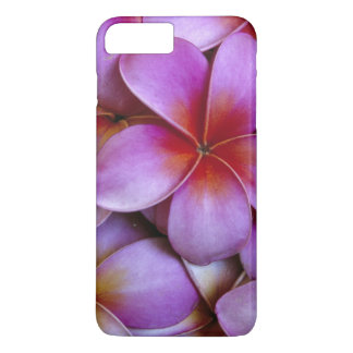 N.A., USA, Maui, Hawaii. Pink Plumeria blossoms. iPhone 8 Plus/7 Plus Case