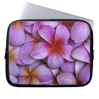 N.A., USA, Maui, Hawaii. Pink Plumeria blossoms. Laptop Computer Sleeve