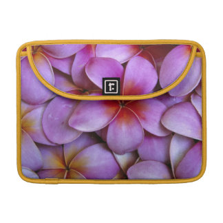 N.A., USA, Maui, Hawaii. Pink Plumeria blossoms. Sleeves For MacBooks