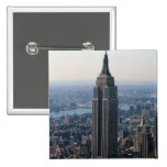 N.A., USA, New York, New York City. The Empire 2 Inch Square Button