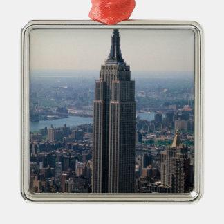 N.A., USA, New York, New York City. The Empire Christmas Tree Ornaments