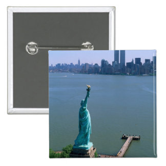 N.A., USA, New York, New York City. The Statue Button