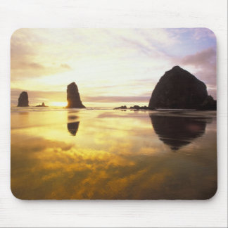 N.A., USA, Oregon, Cannon Beach Sunset with Mouse Pad