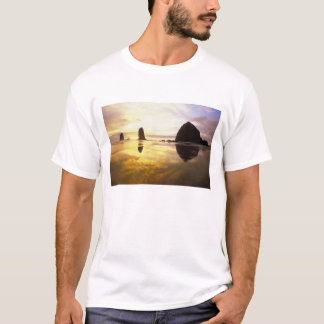 N.A., USA, Oregon, Cannon Beach Sunset with T-Shirt