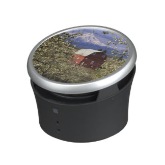 N.A., USA, Oregon, Hood River County. Red Bluetooth Speaker