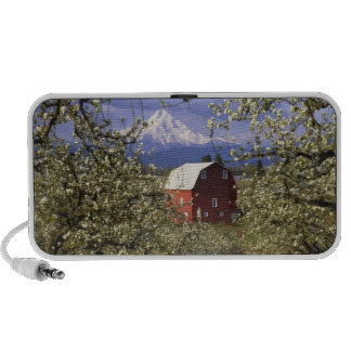 N.A., USA, Oregon, Hood River County. Red Mp3 Speakers