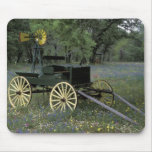 N.A., USA, Texas, Devine, Old wagon and Mouse Pad