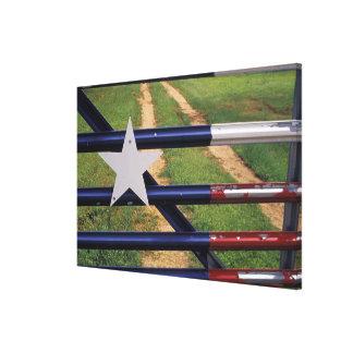N.A., USA, Texas, Lake Buchanan, Texas flag Canvas Print