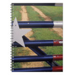 N.A., USA, Texas, Lake Buchanan, Texas flag Spiral Notebook