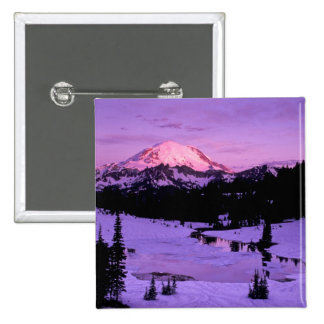 N.A., USA, Washington, Mt. Rainier National 3 Pinback Button