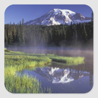 N.A., USA, Washington, Mt. Rainier National 5 Square Sticker