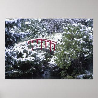 N.A., USA, Washington, Seattle. Moon bridge in 2 Poster