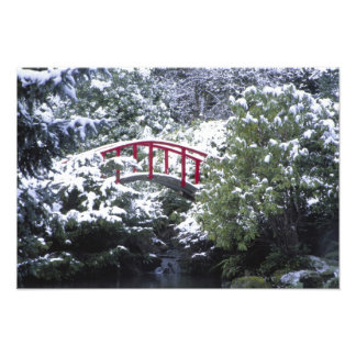 N.A., USA, Washington, Seattle. Moon bridge in Photo Print