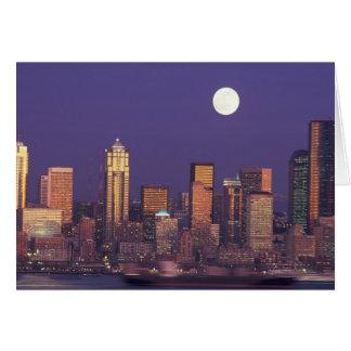 N A USA Washington Seattle Seattle skyline Greeting Card