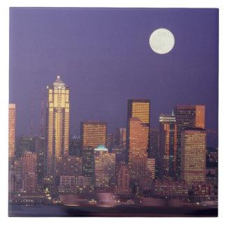 N.A., USA, Washington, Seattle Seattle skyline Tile