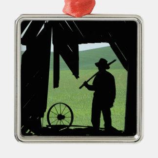 N.A., USA, Washington, Whitman County. Metal Ornament