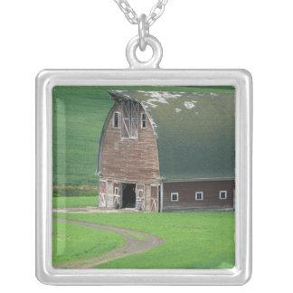 N.A., USA, Washington, Whitman County. Old Square Pendant Necklace