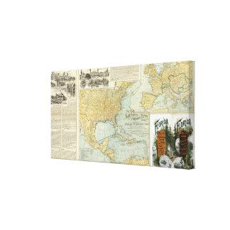 N America, W Europe passenger lines Canvas Print