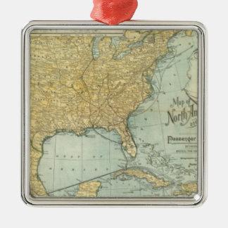 N America, W Europe passenger lines Metal Ornament