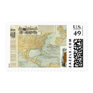 N America, W Europe passenger lines Postage Stamp