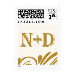 N and D monogram Postage Stamps
