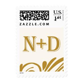 N and D monogram Stamp