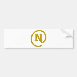 N-at Bumper Sticker