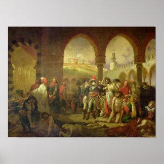 N. Bonaparte que visita la plaga pegada de Posters