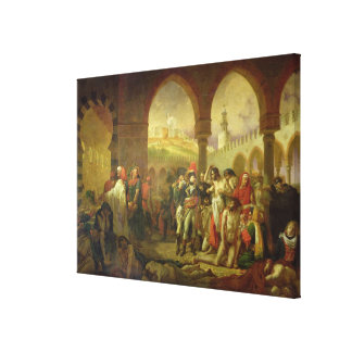 N. Bonaparte visiting the plague stricken of Canvas Print