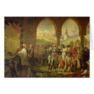 N. Bonaparte visiting the plague stricken of Card