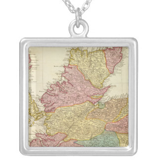 N Britain, Scotland Square Pendant Necklace