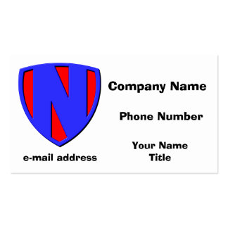 N BUSINESS CARD TEMPLATE