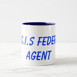 N.C.I.S Federal Agent Two-Tone Coffee Mug